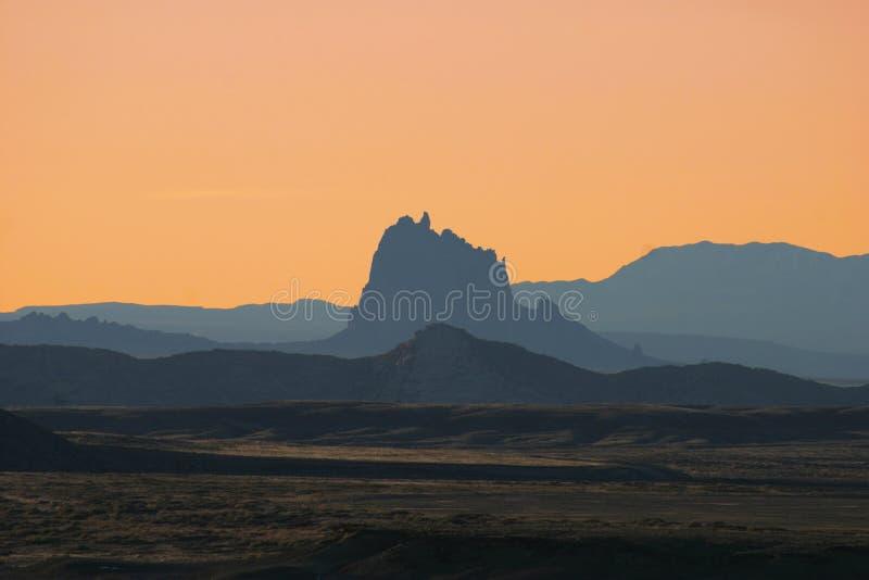 Shiprock Sonnenuntergang stockfotos