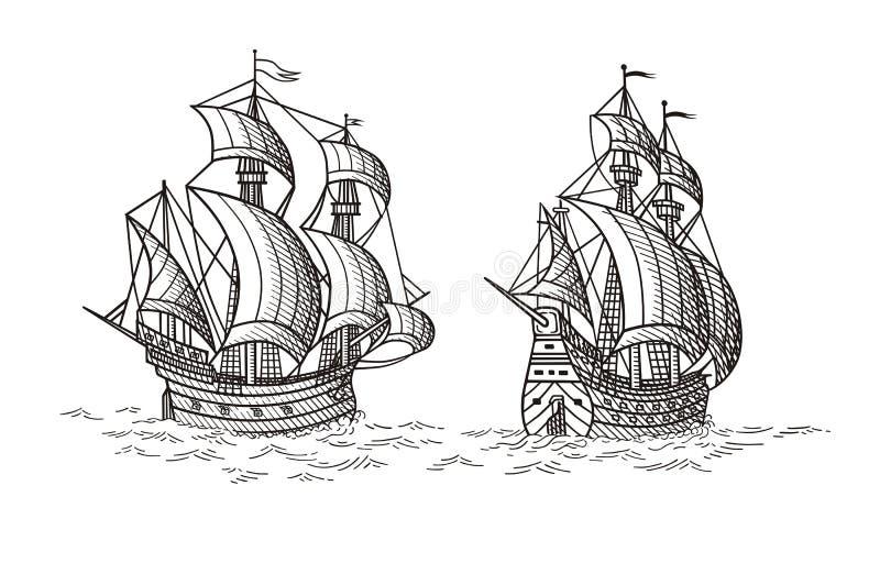 ships royaltyfri illustrationer