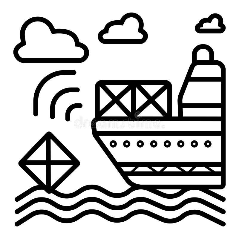 Ships, boats, cargo, logistics, transportation and shipping icon vector illustration