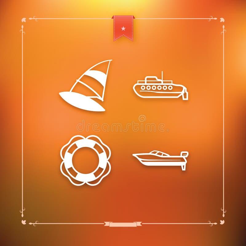 Tag Boat Icon. Design Elements 41i Stock Vector