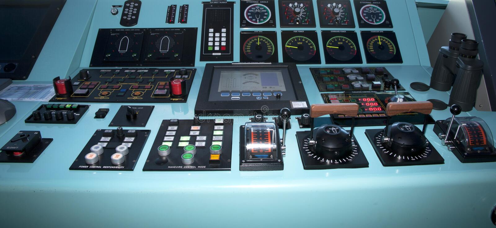 Download Ships Controls stock image. Image of boat, controls, cruise - 26386793