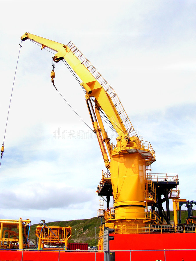 Free Ships Crane. Royalty Free Stock Images - 966999