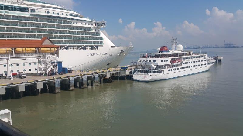 Ships docked at Port Klang royalty free stock photography