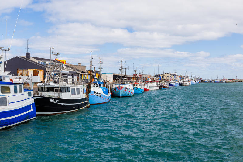 Ships in the harbor of Hirtshals royalty free stock photography