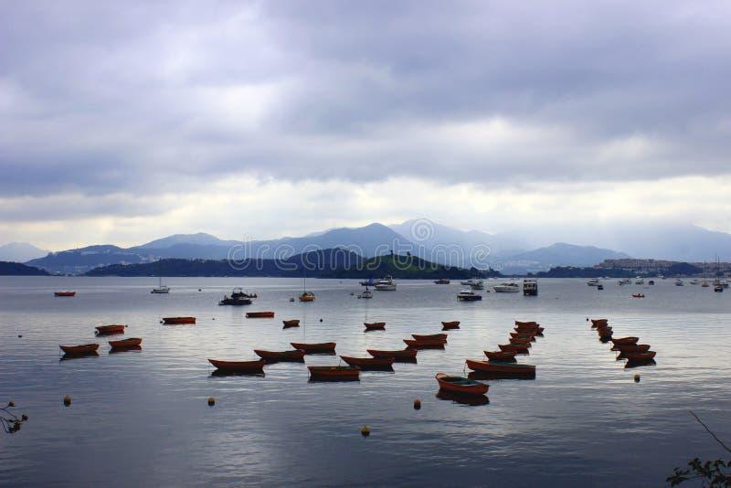 Ships in Hong Kong royalty free stock photo