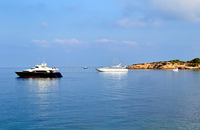 Ships In Ibiza Stock Photo