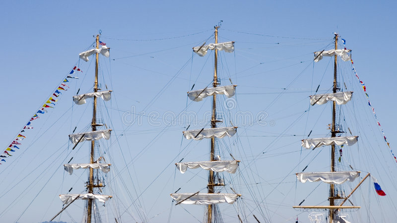 Ships Masts 1 stock photo