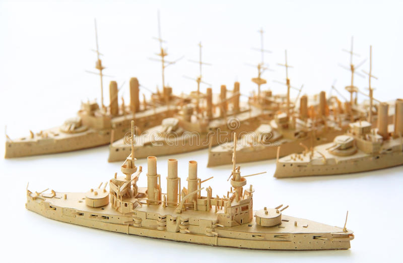 Ships from a paper royalty free stock image