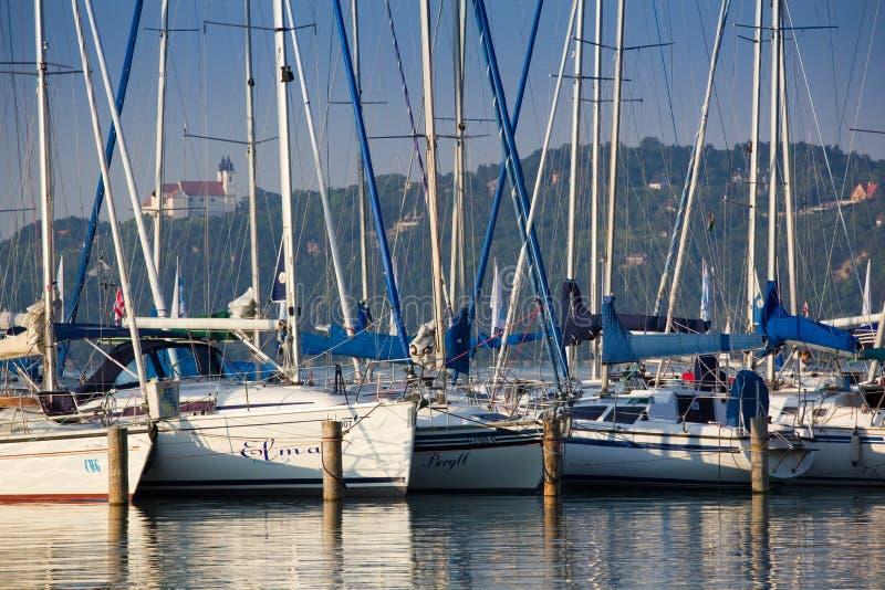 Ships in port stock image