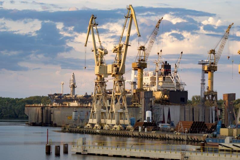 Ships in repair yard royalty free stock images
