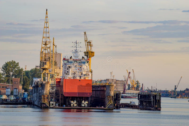 Ships in repair yard royalty free stock photos