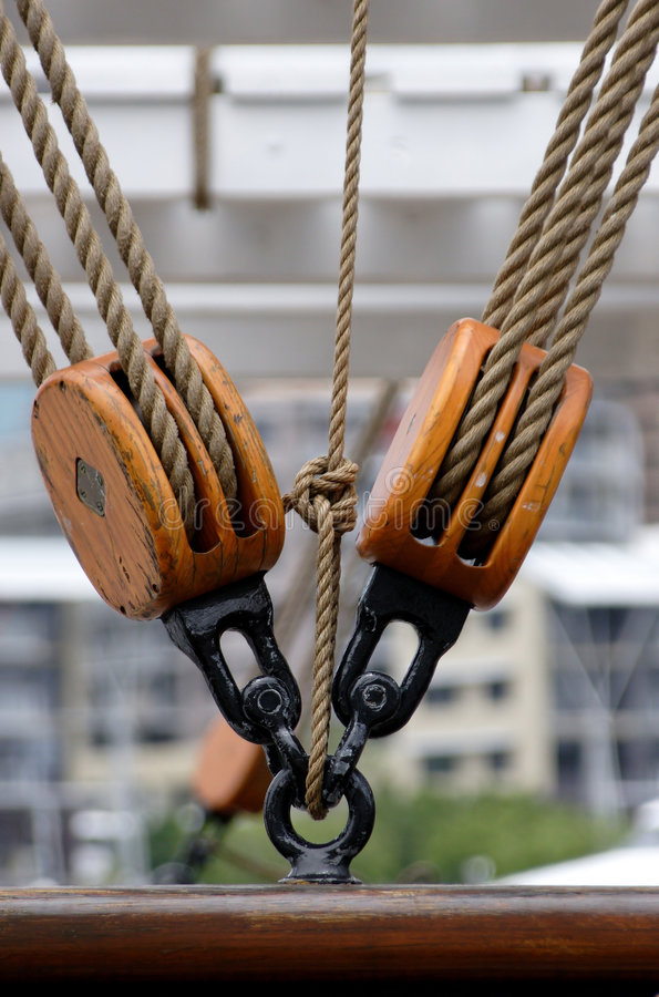 Ships Rigging. Ships tackle stock images