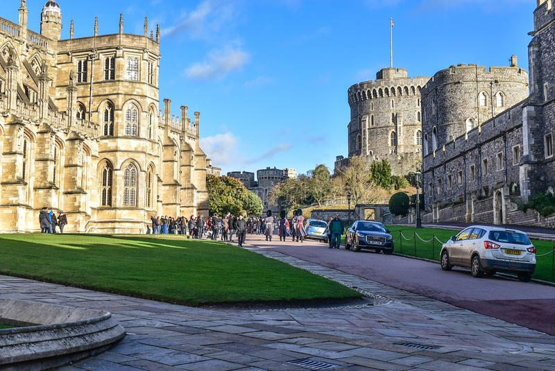 London Windsor castle. London castle view Windsor city and church royalty free stock photo
