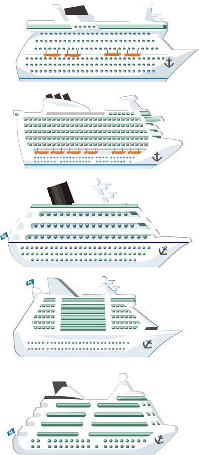 Ships Set Royalty Free Stock Image