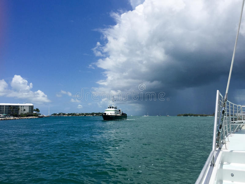 Ships and storms royalty free stock photos