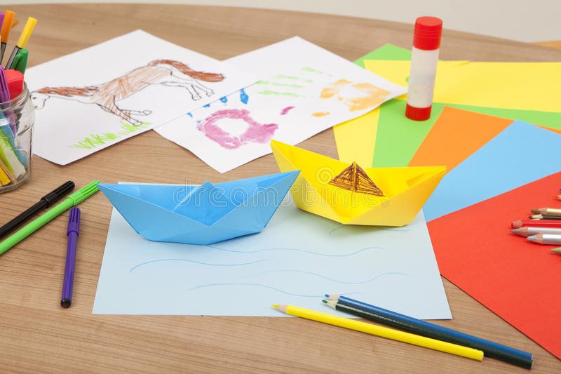Download Ships tinker of paper stock image. Image of cut, table - 39507271