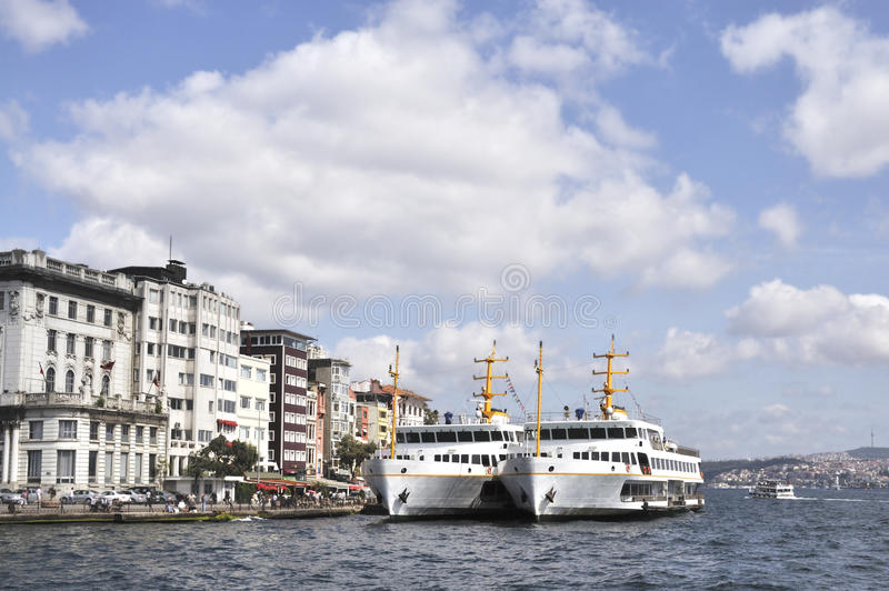 Ships in Turkish port stock photos