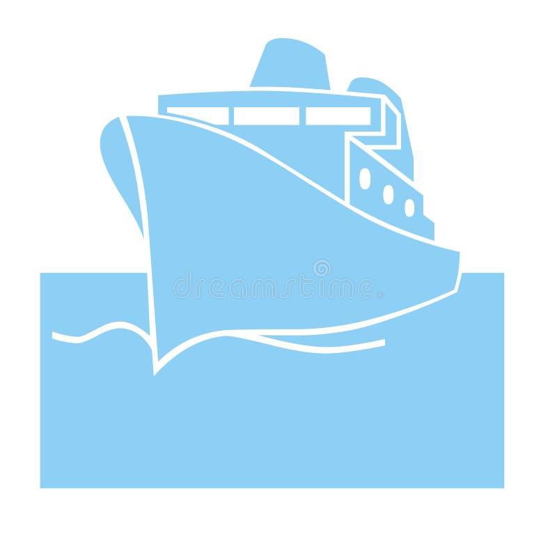 Shipsymbol royaltyfri illustrationer