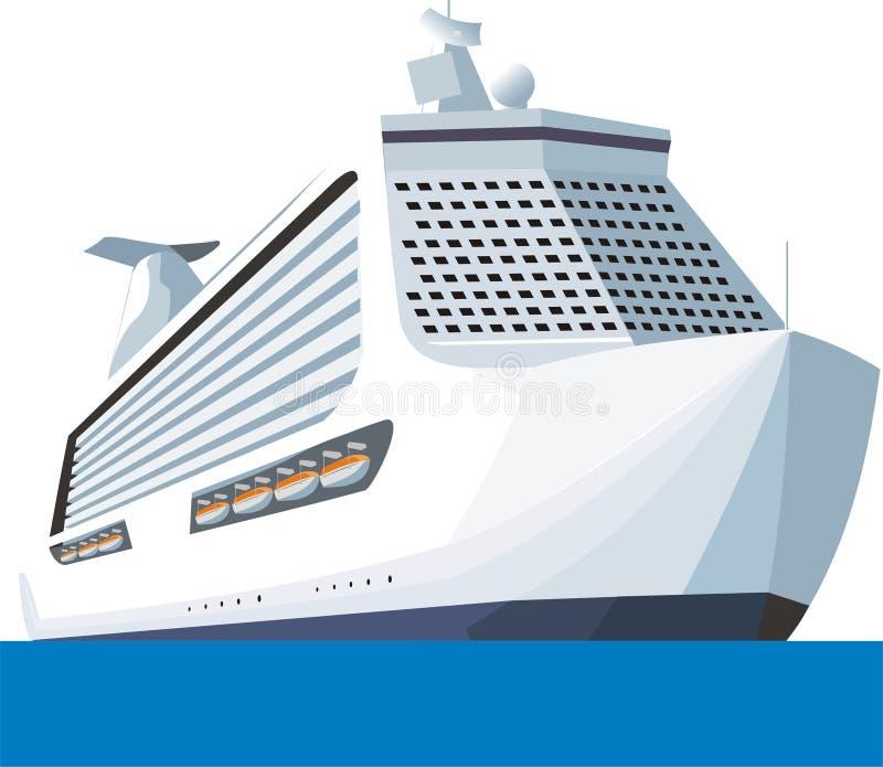 shipturist royaltyfri illustrationer