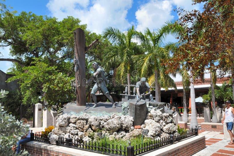 Shipworkers Erinnerungs-Key West Florida lizenzfreie stockfotos