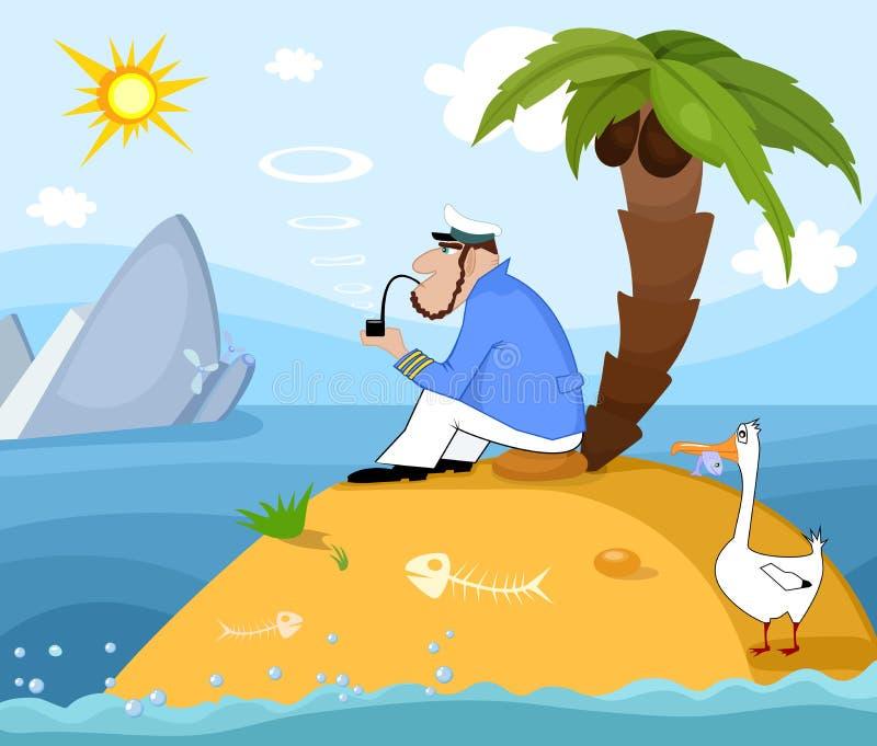 Shipwreck vector illustration