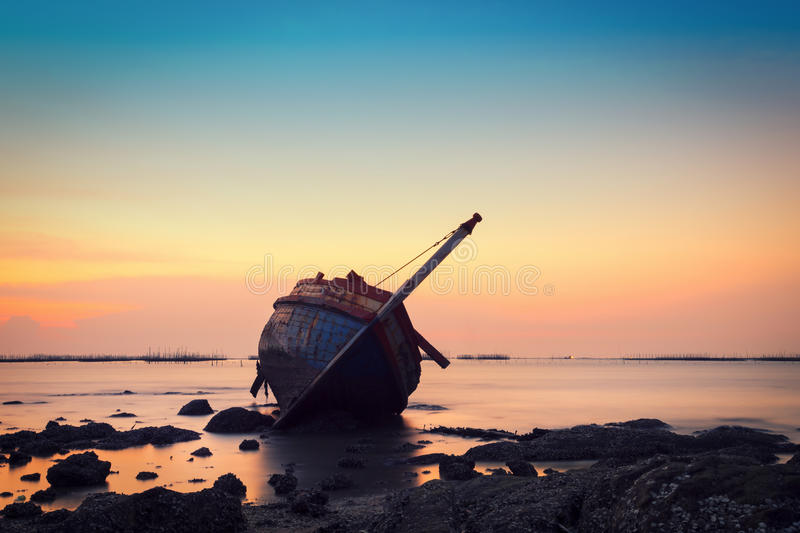 Shipwreck in Angsila Chonburi stock photography