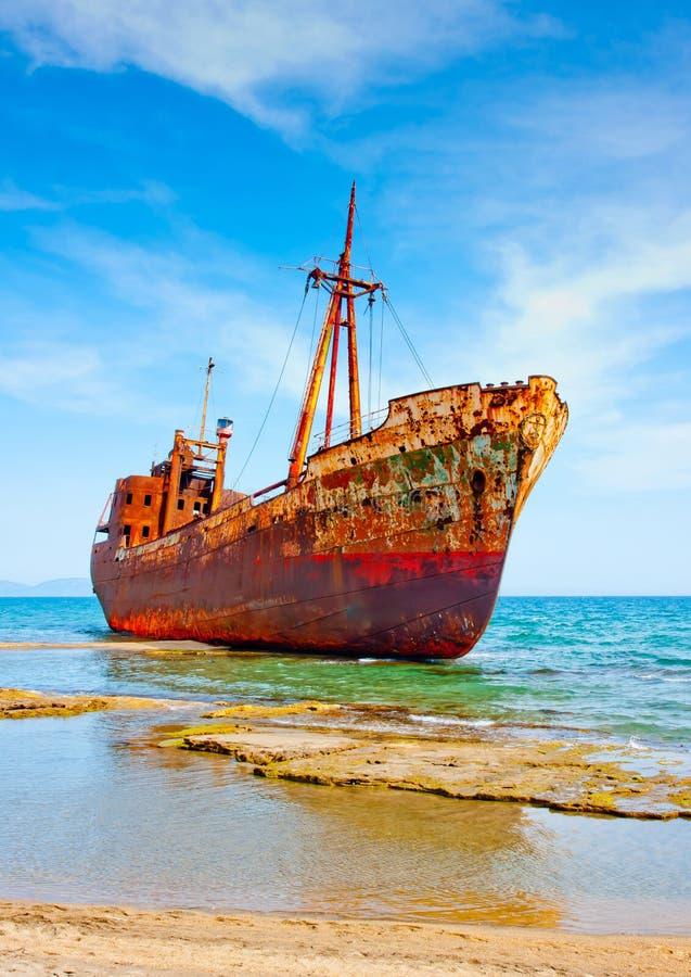 Shipwreck arruinado imagens de stock royalty free