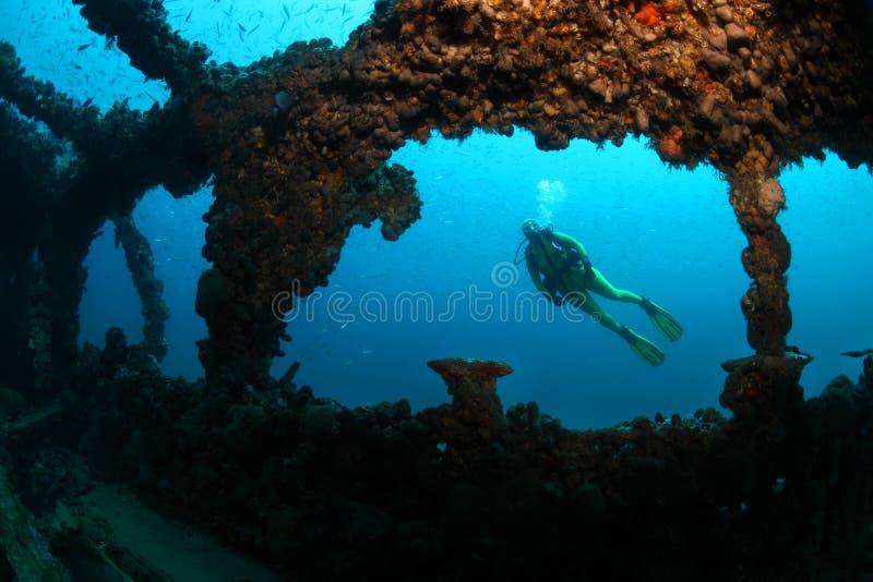 Shipwreck Baron Gautsch fotografia royalty free