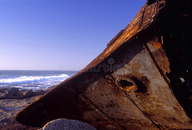 A shipwreck beach stock photography