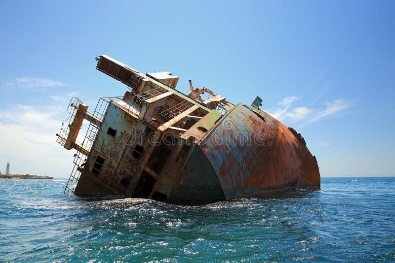 Shipwreck in the Black sea royalty free stock photos