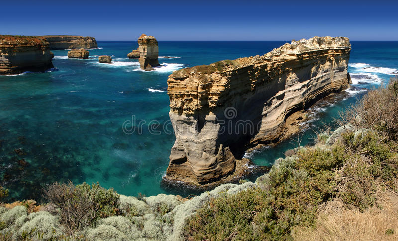 Shipwreck coast panorama, Australia stock photo