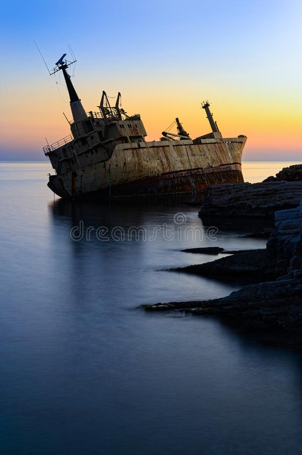 Shipwreck royalty free stock image