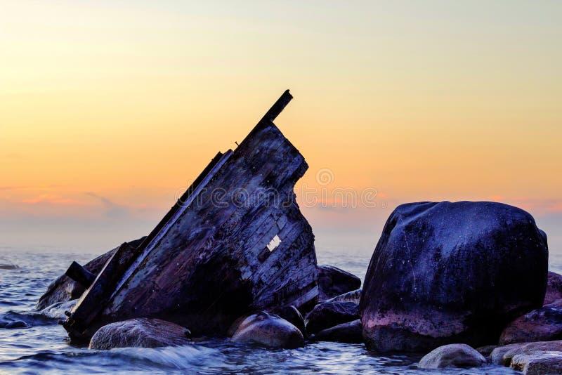 Shipwreck Dawn stock photo