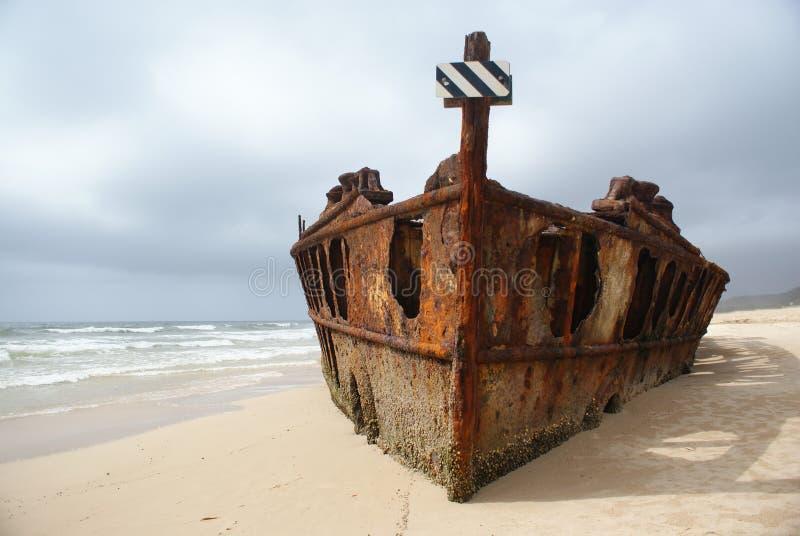 Shipwreck de Maheno fotografia de stock