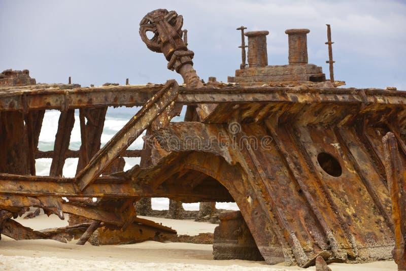Shipwreck Fraser Island. Maheno shipwreck Fraser Island, Australia royalty free stock photography