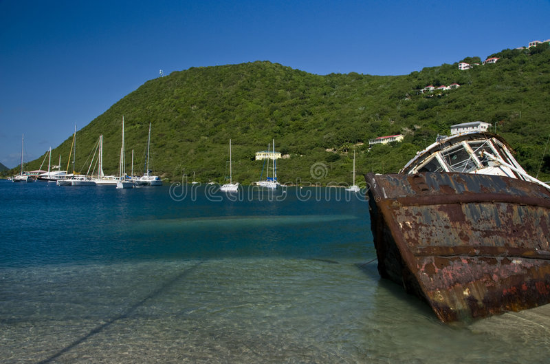 Shipwreck In Frenchmans Cay Royalty Free Stock Photos
