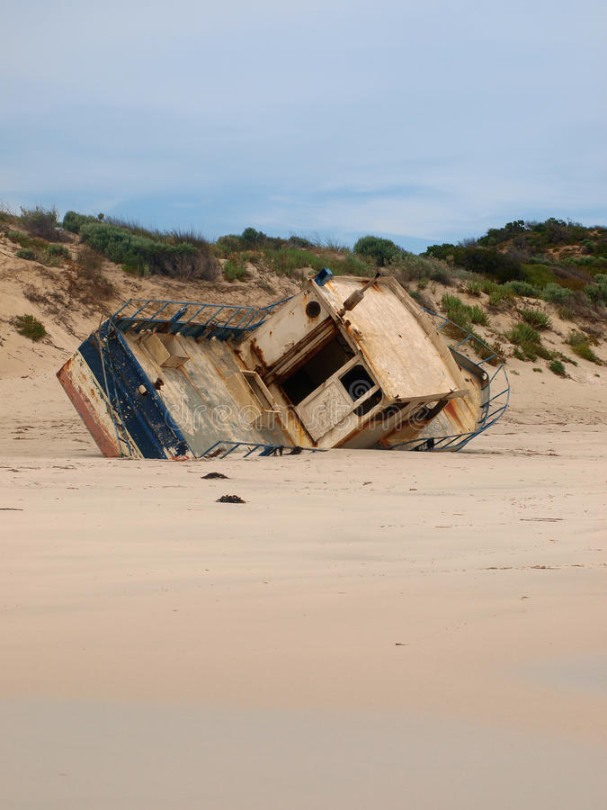 Shipwreck in Innes NP stock photo