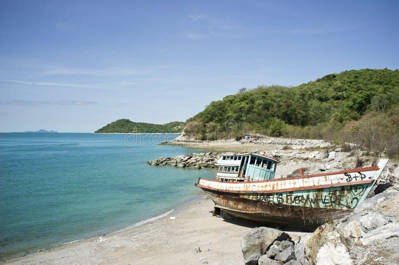 Shipwreck on Island royalty free stock image