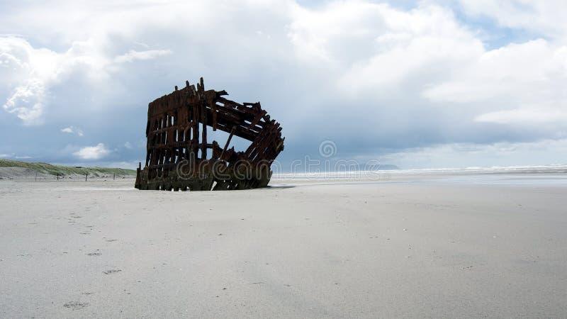 Shipwreck Peter Iredale zdjęcia royalty free