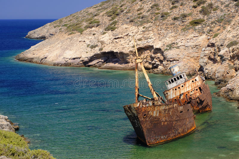 Olympia Shipwreck royalty free stock photos