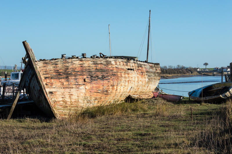 Download Shipwreck or very old boat editorial stock photo. Image of countryside - 86576693