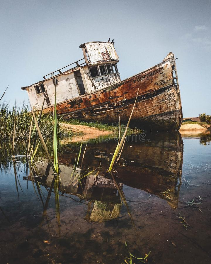 shipwrecked royalty-vrije stock fotografie
