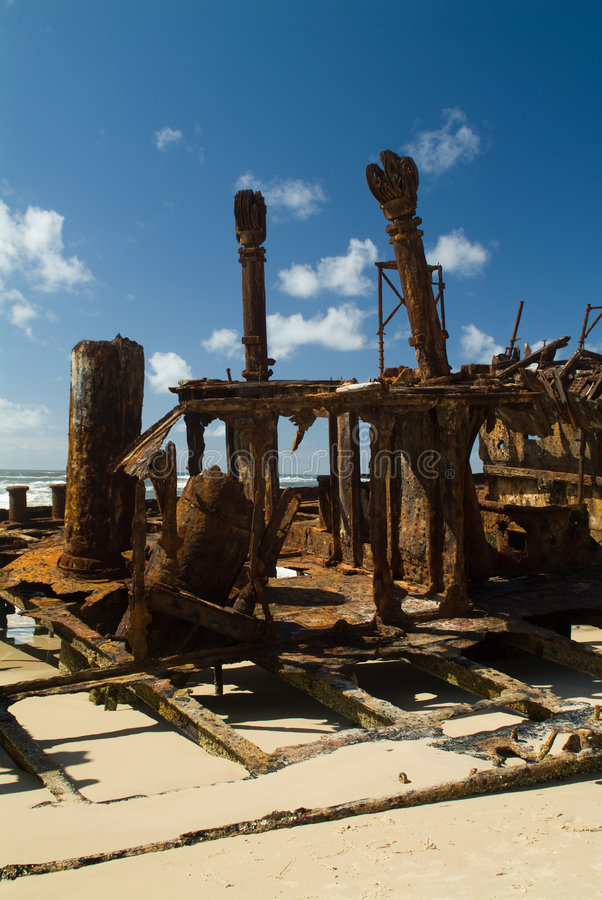 Free Shipwrecked On The Beach Royalty Free Stock Photography - 7081357