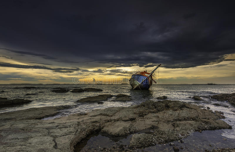 Shipwrecked stock images