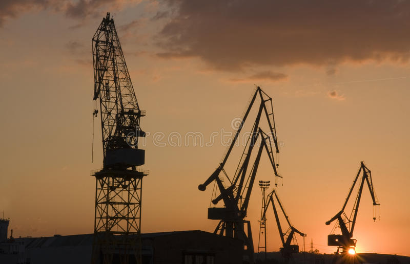 Download Shipyard stock photo. Image of dusk, cranes, industry - 11439038