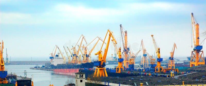 Shipyard cranes royalty free stock images