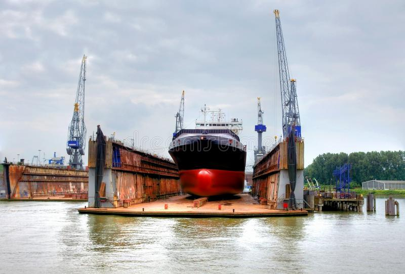 Shipyard in the eemhaven at the port of rotterdam,