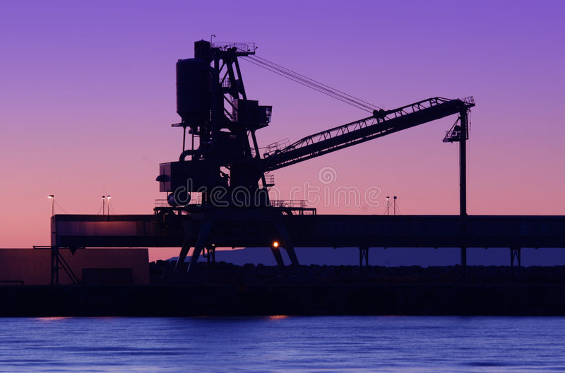 Shipyard silhouette stock photography