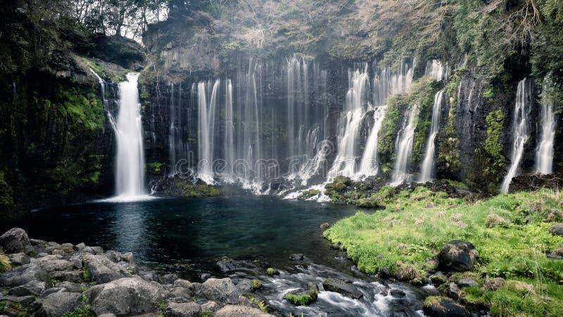 Shiraito waterfall in Shizuoka Japan royalty free stock photo