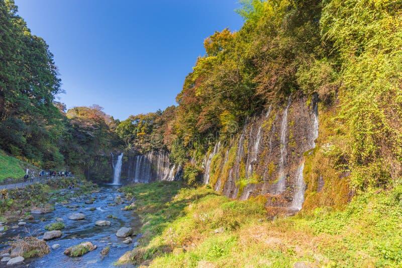 Shiraitodaling, a-waterval van Fujinomiya, Japan royalty-vrije stock foto